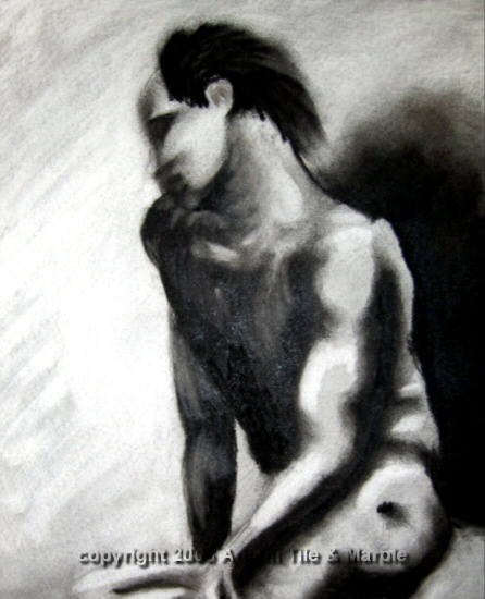 DreamingFigureCharcoal