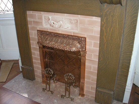 6)PineFireplace