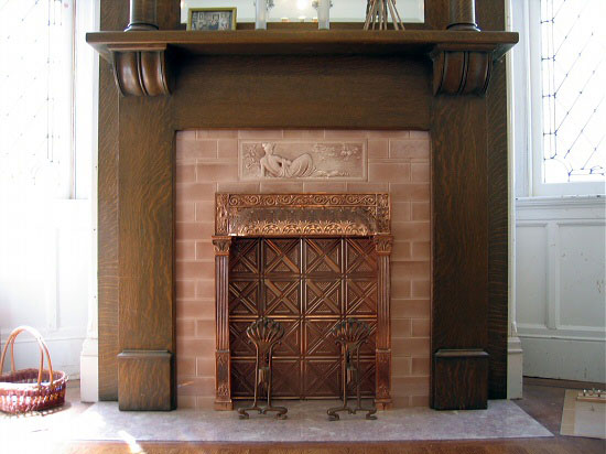 7)PineFireplace