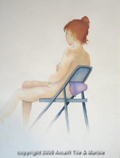 PregnantNudeWatercolor
